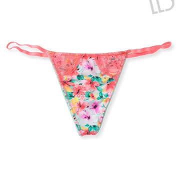 Lacy Floral Thong