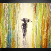 Walking Alone original painting 18 X 24 by JMJARTSTUDIO on Etsy