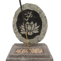 OM Lotus incense holder Ash catcher