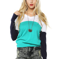 Papaya Clothing Online :: THREE COLOR BLOCK SWEATER