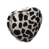 Shimmering ''Leopard Heart'' Evening Clutch