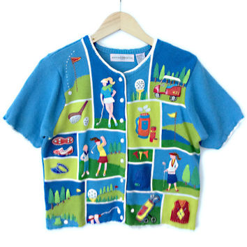 Golf Lover Short Sleeve Tacky Ugly Sweater