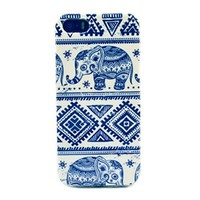 Caselo Generic TPU Rubber Skin Case for iPhone 5 5S - Retail Packaging Elephant