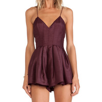 keepsake Star Crossed Playsuit in Wine
