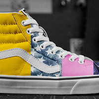 Sk8-Hi, Chukka Low and New Patterns in Customs Shop Now!