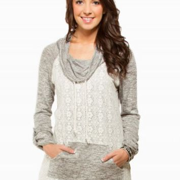 CROCHET COWL TUNIC FLEECE