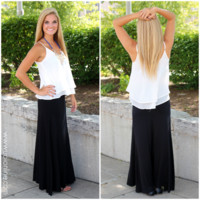 Beautifully Basic Maxi Skirt - Black