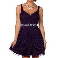 Pre-Order: Aviana- Eggplant Homecoming Dress