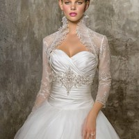 Ball Gown Sweetheart Beading Taffeta Sweep Train Bridal Gown at Dresseshop