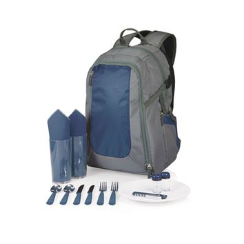 SheilaShrubs.com: Escape Picnic Tote & Backpack - Grey w/ Navy 530-30-638-000-0 by Picnic Time : Picnic Baskets & Totes