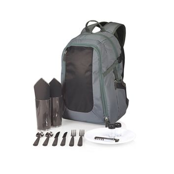 SheilaShrubs.com: Escape Picnic Tote & Backpack - Grey w/ Black 530-30-679-000-0 by Picnic Time : Picnic Baskets & Totes