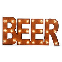 Universal Ironworks 'Marquee Lights - Beer' Recycled Metal Sign