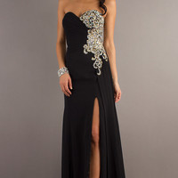 Strapless Prom Gown By Night Moves 6623