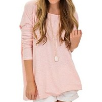 Basically Yours Tee, Pink :: NEW ARRIVALS :: The Blue Door Boutique