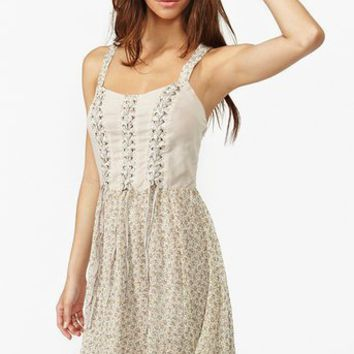 Ditsy Corset Dress in  What's New at Nasty Gal