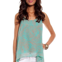 Dots and Swirls Tank in Blue :: tobi