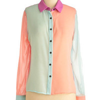 The Bright Choice Top | Mod Retro Vintage Long Sleeve Shirts | ModCloth.com