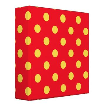 Yellow on Red Polka Dots Pattern