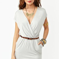 Sunday Wrap Dress - Silver in  Sale at Nasty Gal