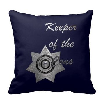 Keeper of the Cons C.O Officer Pillow Silver