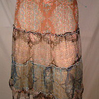 Anthropologie Ruth Tiered Lined Silk Skirt Size 0 *Flaw* | eBay