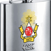 PHI SIGMA KAPPA Fraternity 6 oz Stainless Steel Liquor Flask