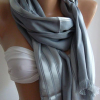 Grey Elegance Shawl / Scarf by womann on Etsy,,,,