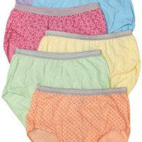 Fruit of the Loom Women`s 6-Pack Heather Briefs