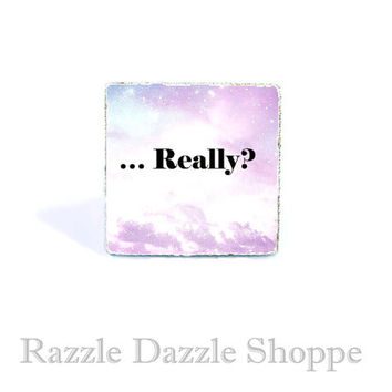 Nebula Really...? Adjustable Ring - Kawaii Cute Soft Pastel Goth Jewelry by RazzleDazzleShoppe