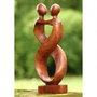 Novica &#x27;Heart to Heart&#x27; Sculpture - 96053 - Decorative Accents - Decor