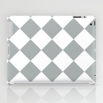 Diamond Grey & White iPad Case by BeautifulHomes | Society6