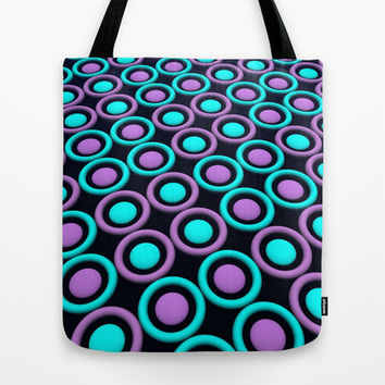 Rings and Discs Tote Bag by Lyle Hatch | Society6