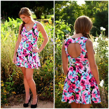 Like a Wildflower Dress-fuchsia