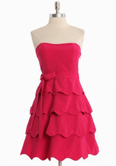 graceful waves strapless dress