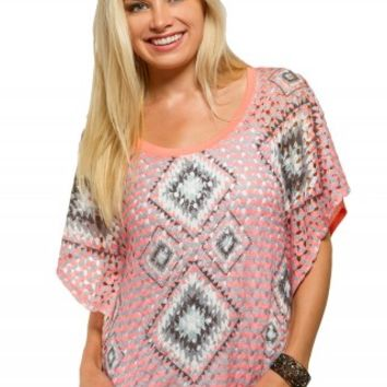 TRIBAL PONCHO TOP