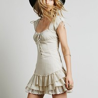Free People Womens Sweetly Be Dress - Stone,