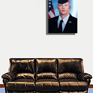 Commission A Custom Soldier Acrylic Popart Painting From Photo Free Shipping in US