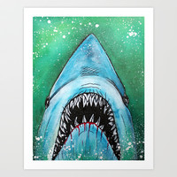Spawn of Jaws Art Print by Laura Barbosa Art