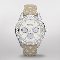FOSSIL Watch Styles Natural Watches:Women Stella Signature Nylon Watch ES3053