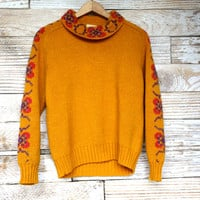 Zero made in SPAIN vintage yellow knit sweater