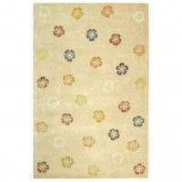 Martha Stewart Rugs Garland Blush / Beige Contemporary Rug - MSR3267A - Wool Rugs - Area Rugs by Material - Area Rugs