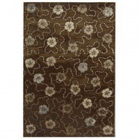 Martha Stewart Rugs Garland Mocha Contemporary Rug - MSR3267C - Wool Rugs - Area Rugs by Material - Area Rugs