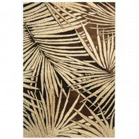 Martha Stewart Rugs Palms Coconut / Brown Contemporary Rug - MSR3268A - Wool Rugs - Area Rugs by Material - Area Rugs