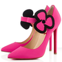 Christian Louboutin Pensee 120mm Satin Pumps Fuxia - &amp;#36;157