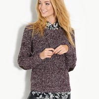 BLONDE & BLONDE Elbow Patch Chunky Jumper | BANK Fashion