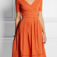 Preen by Thornton Bregazzi - Robin pointelle-trimmed stretch-crepe dress