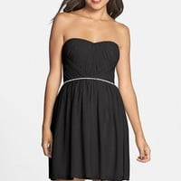 a. drea Embellished Ruched Skater Dress