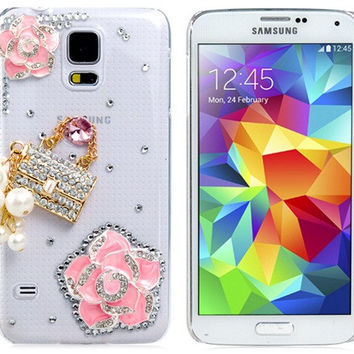 Crystal Lock & Beads Plastic Case for Samsung Galaxy S5