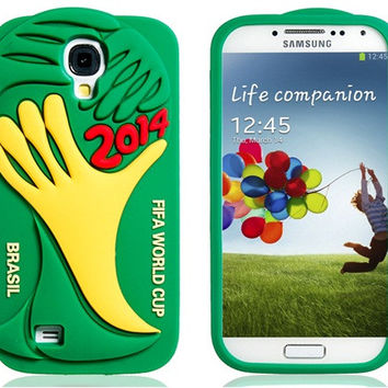 2014 FIFA World Cup Brazil Silicone Case for Samsung Galaxy S4