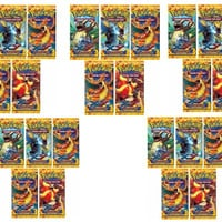 Pokemon TCG XY Flashfire 10-Card Booster Packs Lot of 25 Packs Factory Sealed